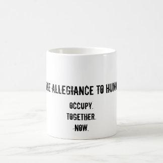 Pledge Allegiance to Humanity Basic White Mug