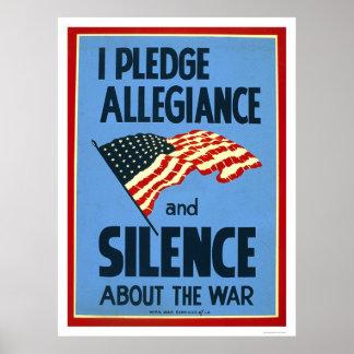 Pledge Allegiance War 1941 WPA Poster