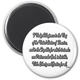 Pledge of Allegiance 6 Cm Round Magnet