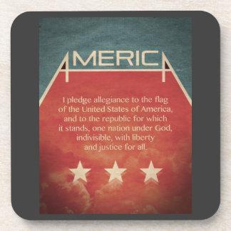 Pledge of Allegiance Drink Coaster