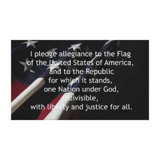 Pledge of Allegiance Gallery Wrap Canvas