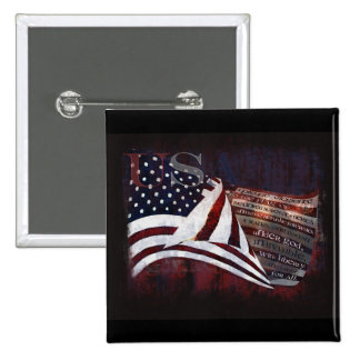 Pledge of Allegiance gifts & Greetings 15 Cm Square Badge