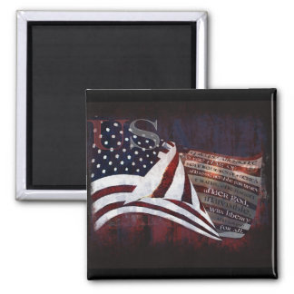 Pledge of Allegiance gifts & Greetings Square Magnet