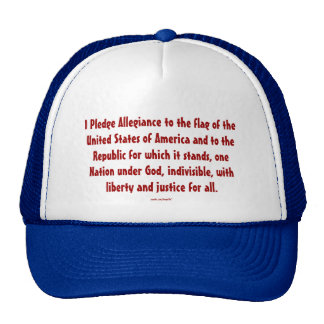 PLEDGE OF ALLEGIANCE TRUCKER HAT