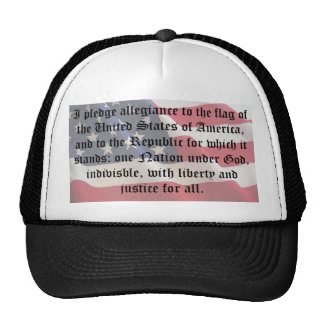 Pledge of Allegiance Mesh Hats