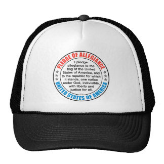 Pledge of Allegiance Trucker Hats