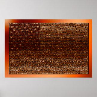 Pledge of Allegiance in USA Flag Print