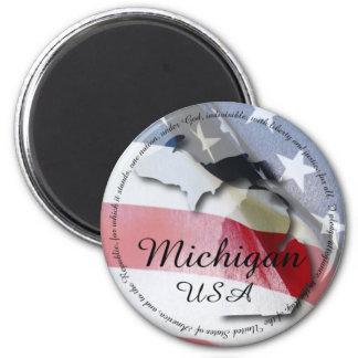 Pledge of Allegiance & Michigan Fridge Magnet