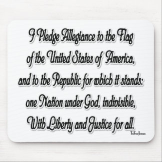 Pledge of Allegiance Mousepads