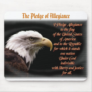 Pledge of Allegiance Mousepad