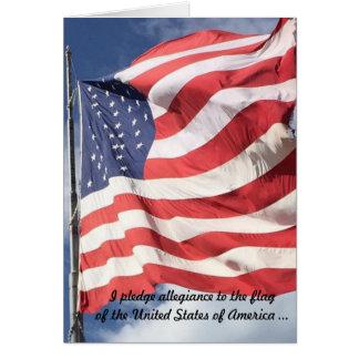 Pledge of Allegiance New Citizen Card