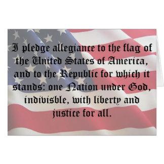 Pledge of Allegiance Note Card