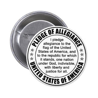 Pledge of Allegiance Pinback Buttons
