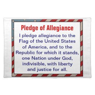 Pledge of Allegiance placemat