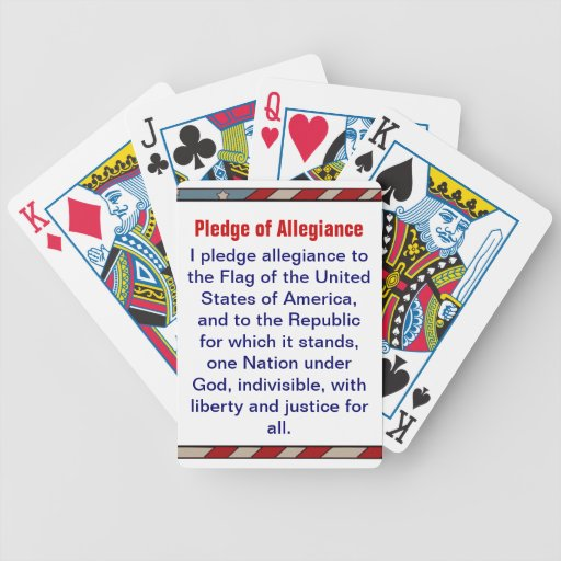 Pledge of Allegiance playing cards