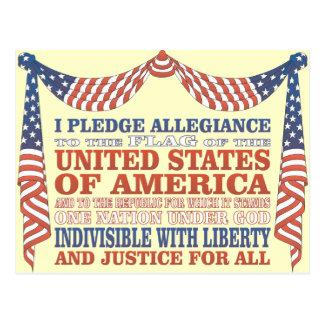 Pledge of Allegiance Postcard
