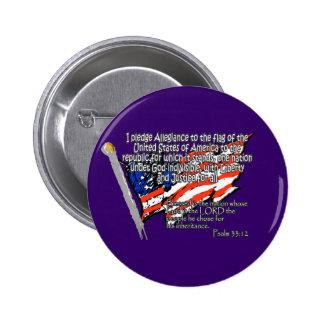 Pledge of Allegiance Psalm 33:12 6 Cm Round Badge