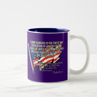 Pledge of Allegiance Psalm 33:12 Coffee Mugs