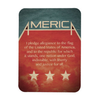 Pledge of Allegiance Rectangular Photo Magnet