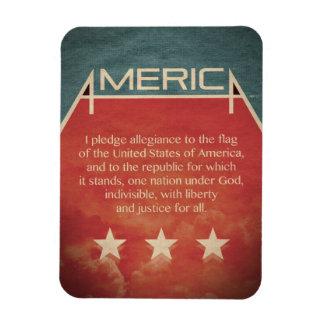 Pledge of Allegiance Rectangular Photo Magnet