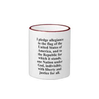 Pledge of Allegiance Ringer Mug