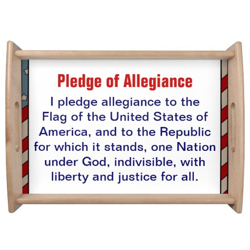 Pledge of Allegiance serving tray