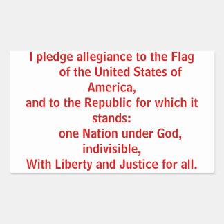 Pledge of Allegiance Rectangular Sticker