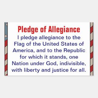 Pledge of Allegiance sticker