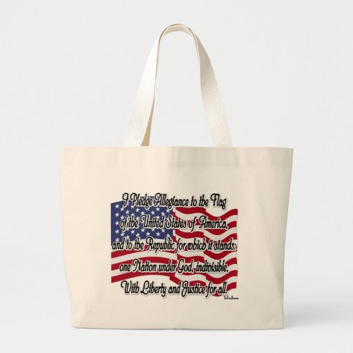 Pledge of Allegiance with US Flag Bags