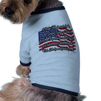 Pledge of Allegiance with US Flag Pet Clothes
