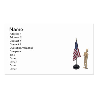 Pledge to American Flag Business Cards