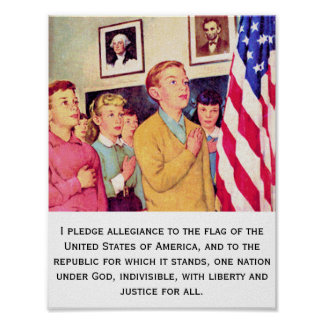 Pledge to the American Flag Poster