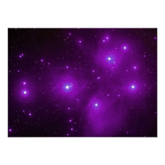 Pleiades in Purple Poster