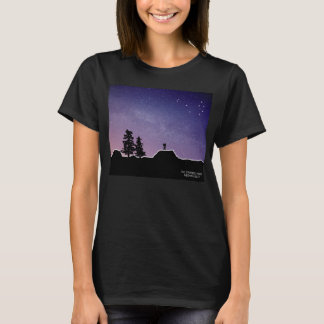 Pleiades Over Landscape - The Starseed Series T-Shirt