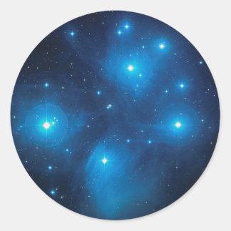 Pleiades Round Sticker