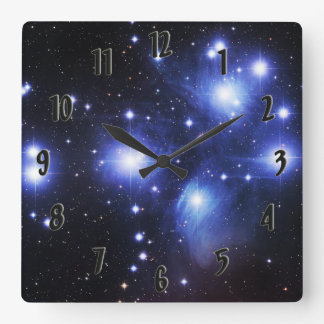 Pleiades Square Wall Clock
