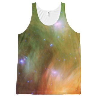 Pleiades stars in infrared All-Over print tank top