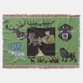 Pleistocene Christmas Throw Blanket