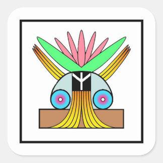Plejaren Symbol for Peace Square Sticker