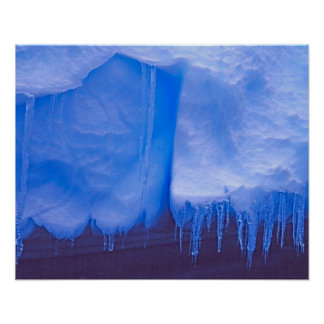 Pleneau Iceberg Graveyard, Antarctica: Blue Poster