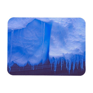 Pleneau Iceberg Graveyard, Antarctica: Blue Rectangular Photo Magnet