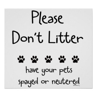 Plese Don't Litter 2 Posters
