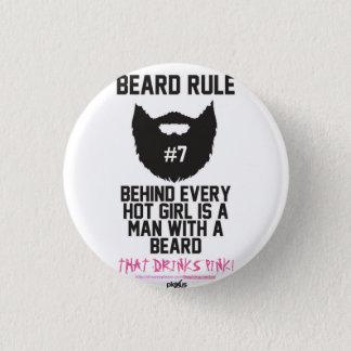 PLEXUS Bearded Man Small, 1¼ Inch Round Button