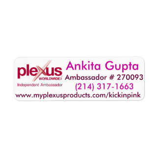 Plexus World Wide mailing Labels