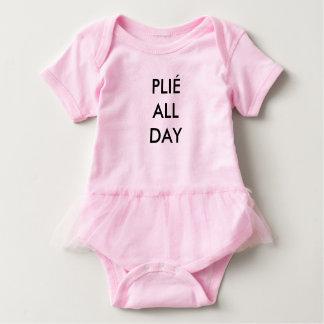 Plié All Day Pink Baby Bodysuit