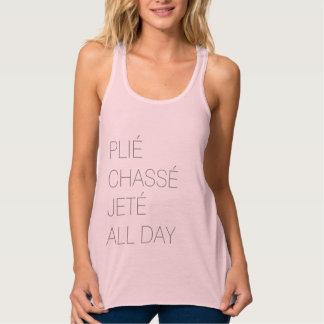Plié Chassé Jeté All Day Ballet Flowy Tank