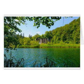Plitvice Lakes National Park in Croatia Card