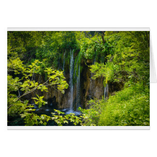 Plitvice Lakes National Park in Croatia Card