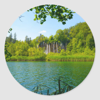 Plitvice Lakes National Park in Croatia Classic Round Sticker