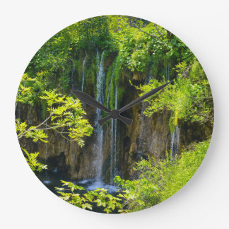 Plitvice Lakes National Park in Croatia Large Clock